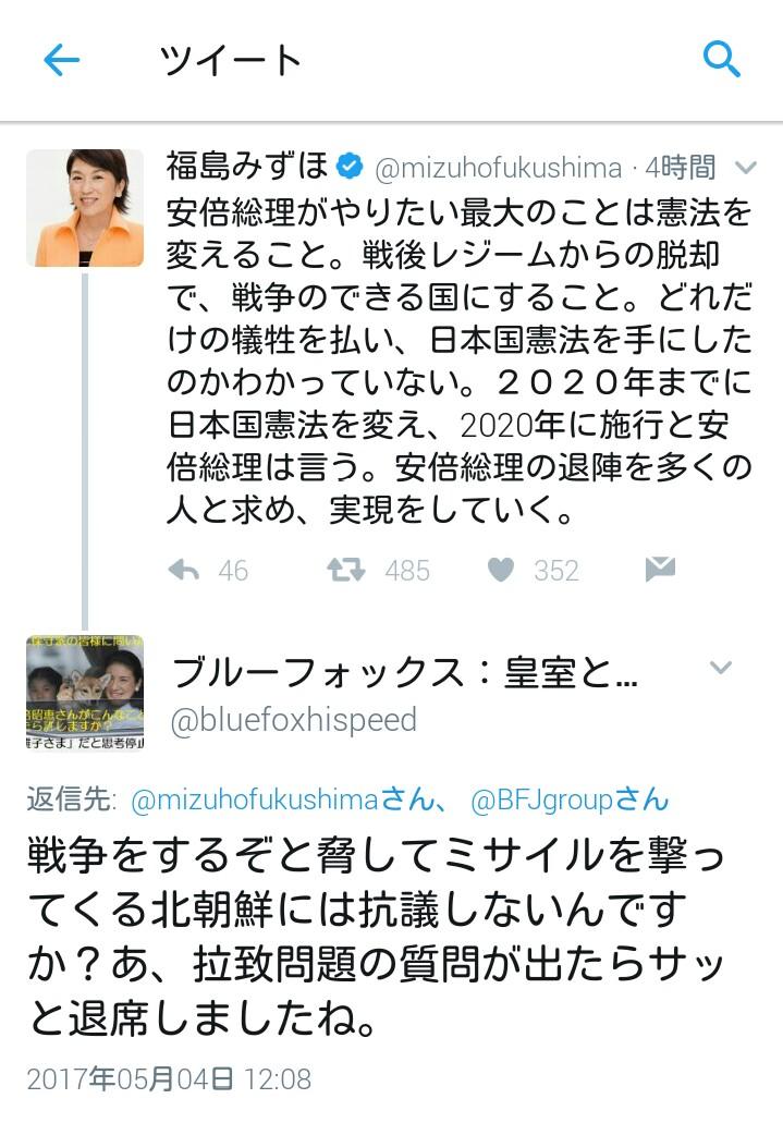 #社民党 #福島瑞穂 に意見してみました。